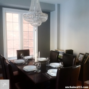 Our dining room – Before & after