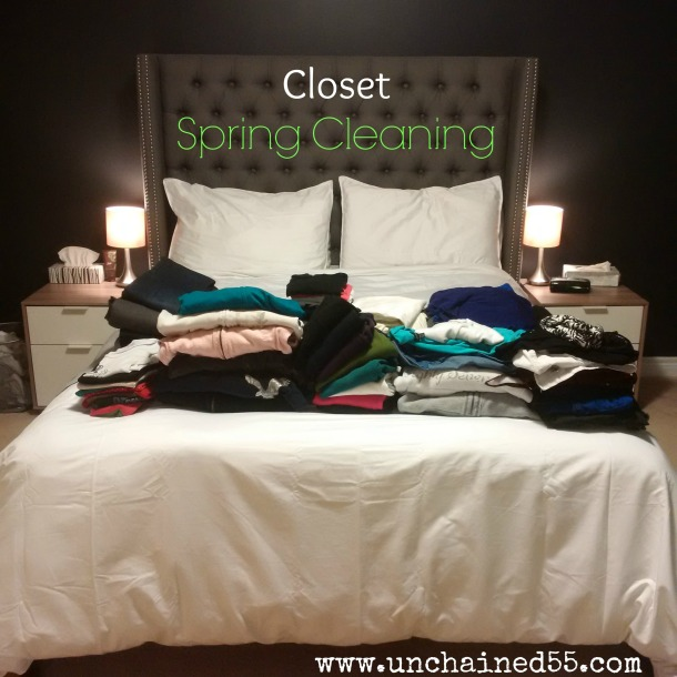 closet spring cleaning - clothing purge