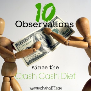 10 Observations since the Crash Cash Diet (plus a terrifying look at how much we've spent in the last 2years)