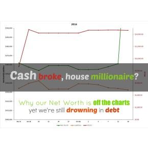 Cash broke, housemillionaire?
