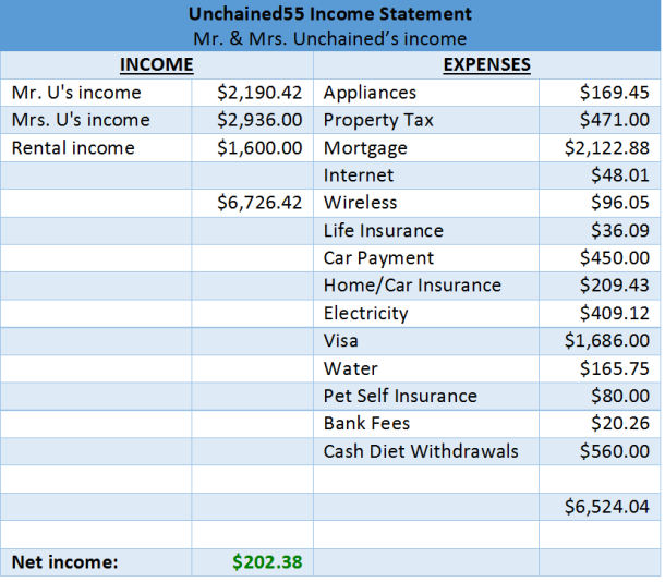 Income statement (both)