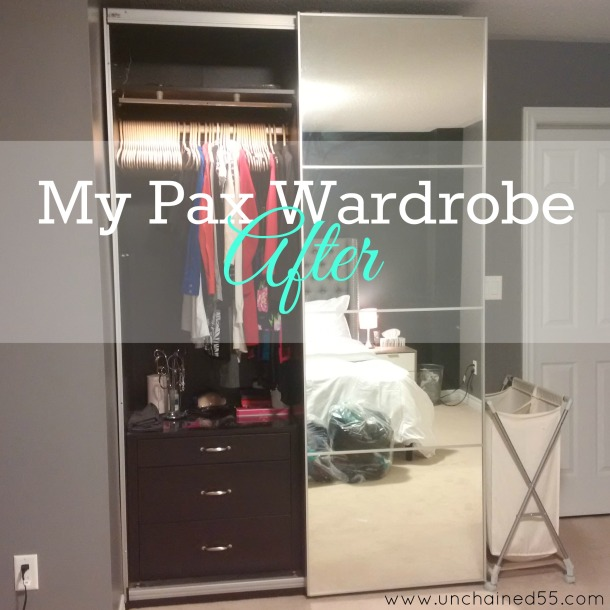My wardrobe after decluttering