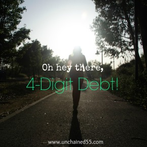 Oh hey there, 4-digit debt!