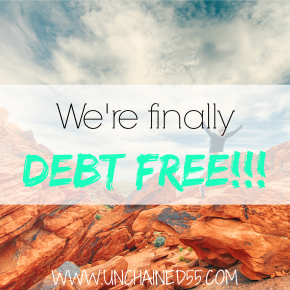 Can this really be? We're finally DEBT FREE!!!