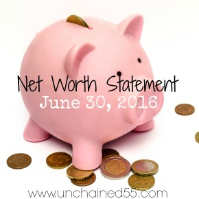 Net Worth Statement – June 30, 2016