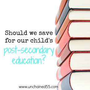 Should we save for our child's post-secondary education?